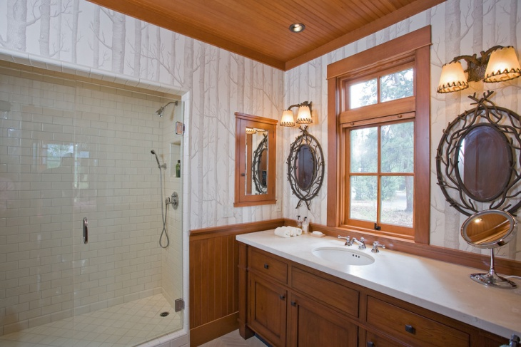 Rustic Bathroom with Beadboard