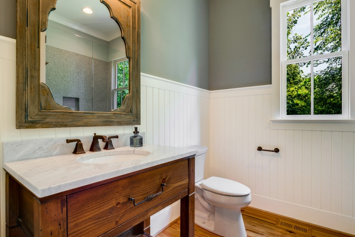Farmhouse Beadboard Bathroom