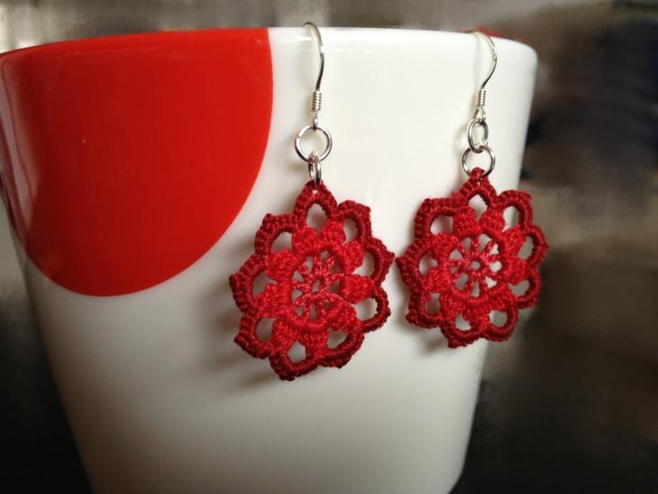 Crochet Mandala Earrings Design