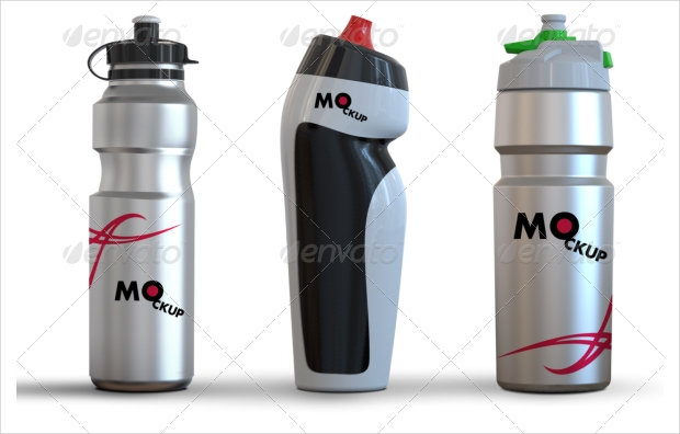 drinking water bottle mockup