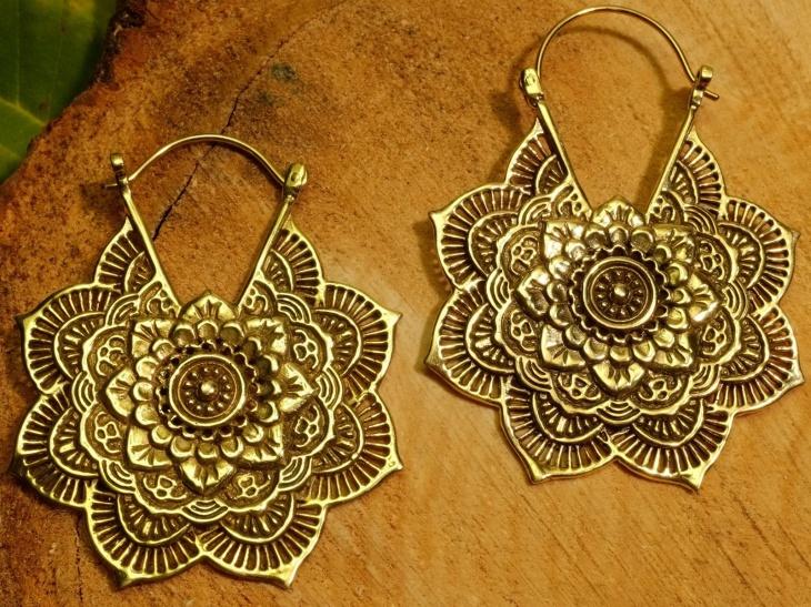 mandala hoop earrings