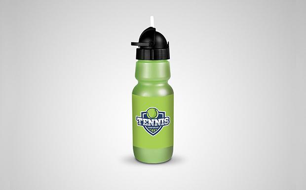 sports water bottle psd mockup