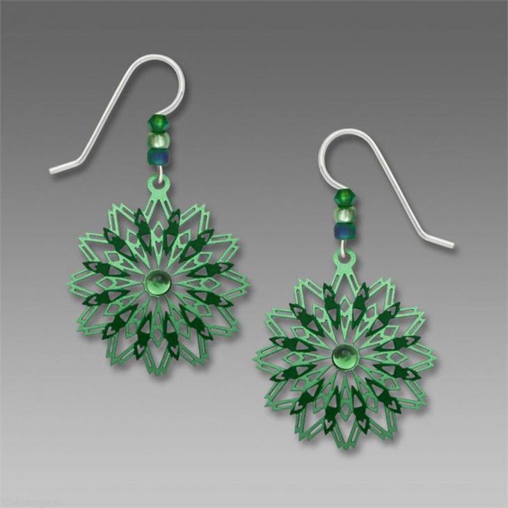 dangle mandala earrings