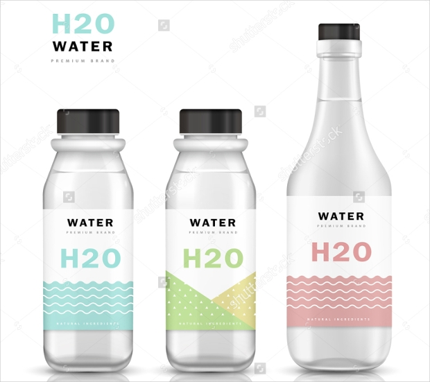 trendy water bottle mockup template