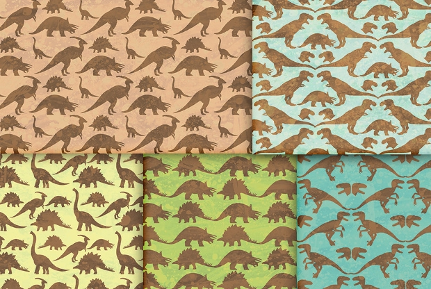 dinosaur digital paper patterns
