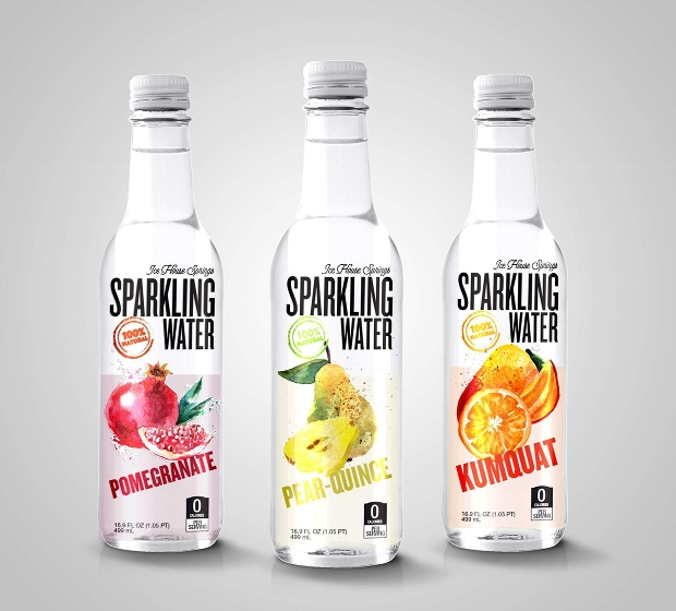 sparkling water bottle mockup