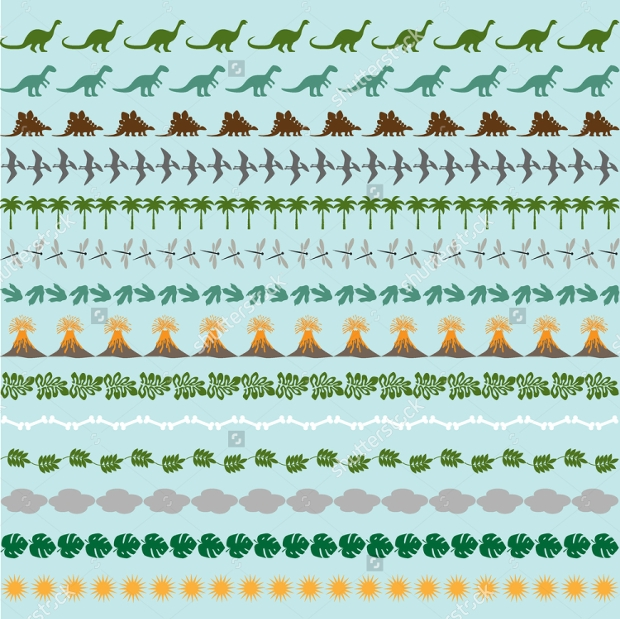 dinosaur border patterns
