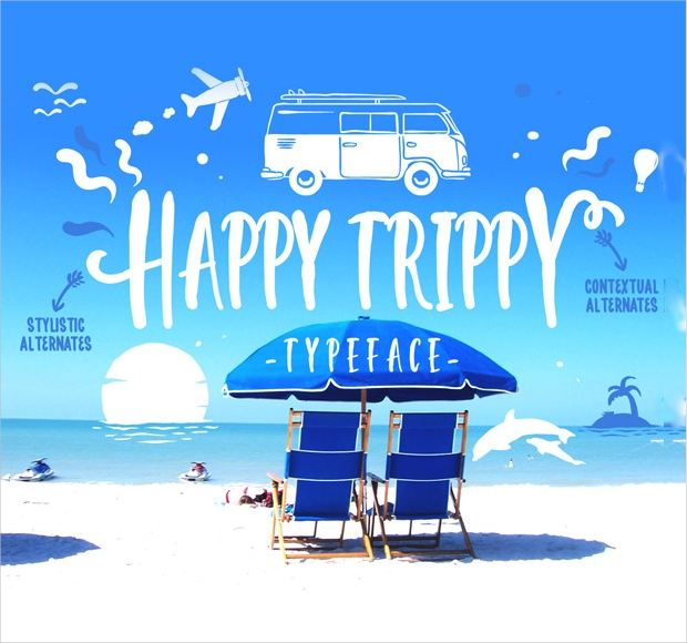 Happy Trippy Holiday Font
