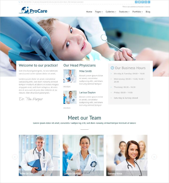 Medical ProCare WordPress Theme