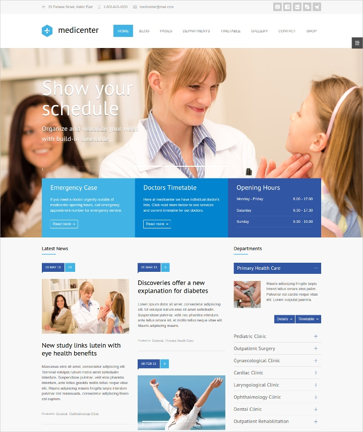 Medical Responsive WordPress Template
