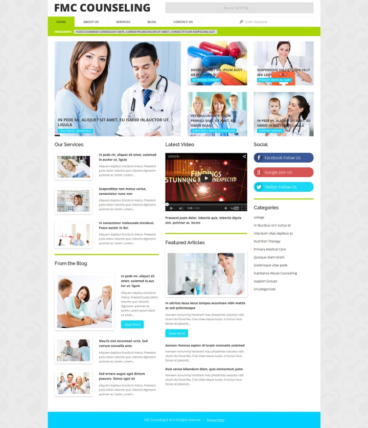 medical counselling wordpress theme