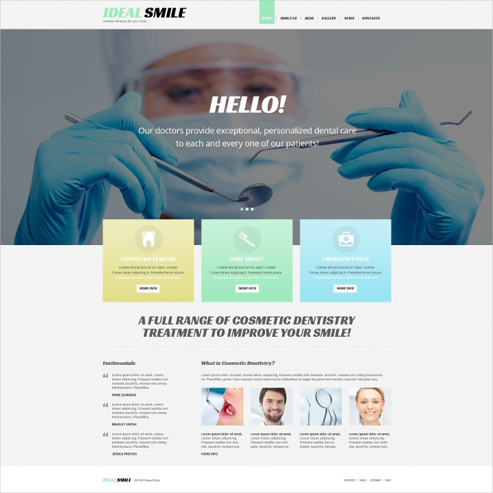 Responsive Dentistry WordPress Theme