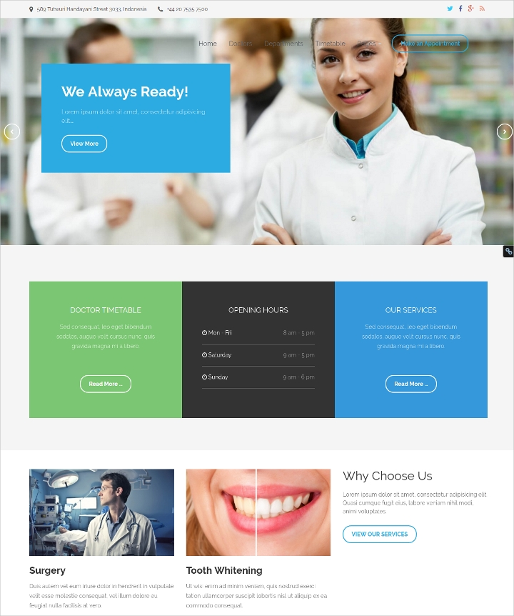 Responsive Medical Premium WordPress Theme