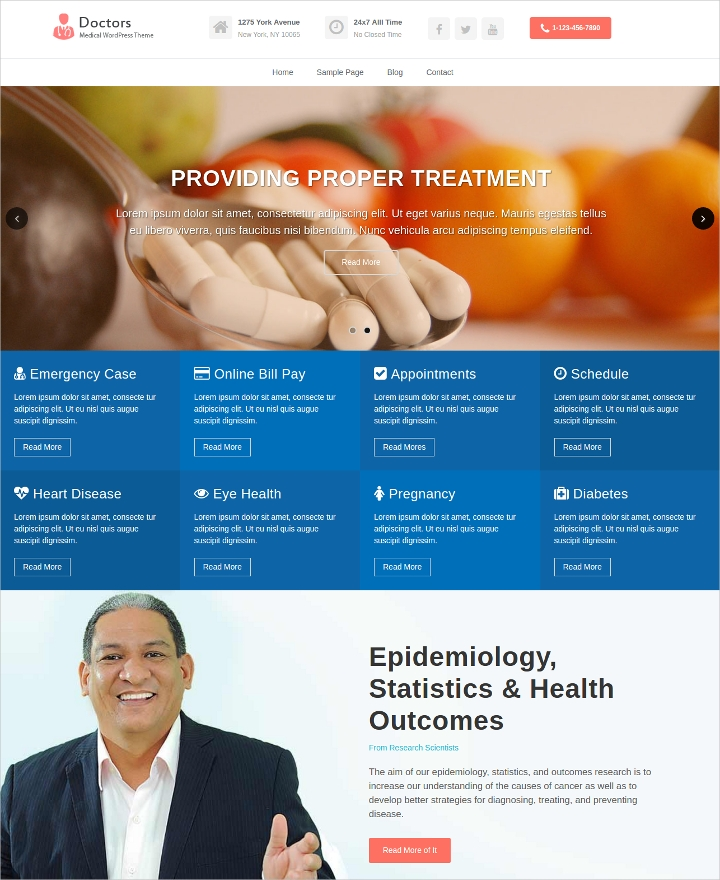 Health Clinics WordPress Theme