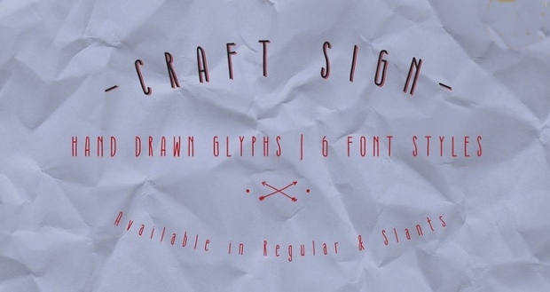 Craft sign Font