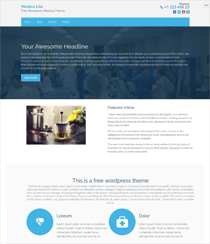 Free Responsive Medical WordPress Theme