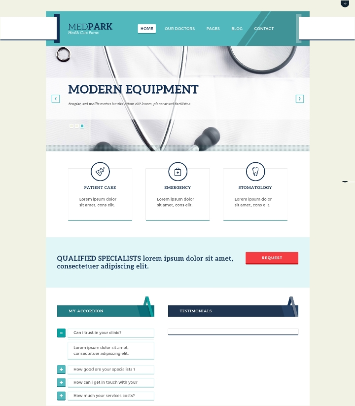Health Centre WordPress Theme