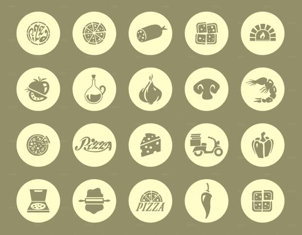 pizza web icons set1