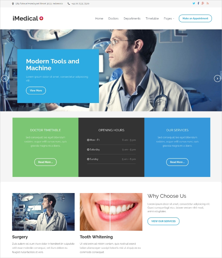 Medical Drag & Drop Designed WordPress Theme