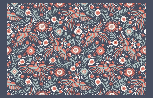 decorative mexican floral pattern