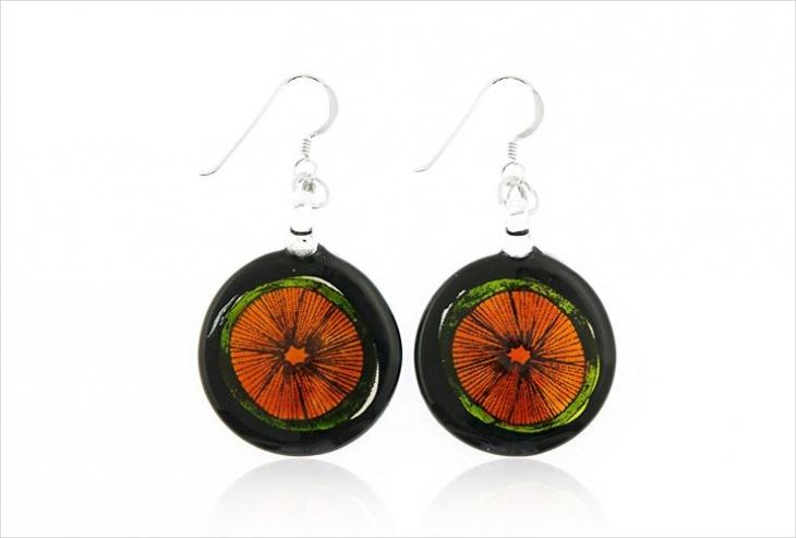 Glass Fruit Earrings