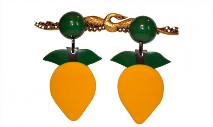 Fruit Clip On Earrings