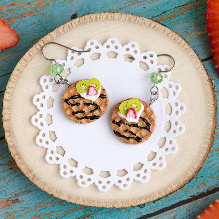 kiwi fruit earrings design