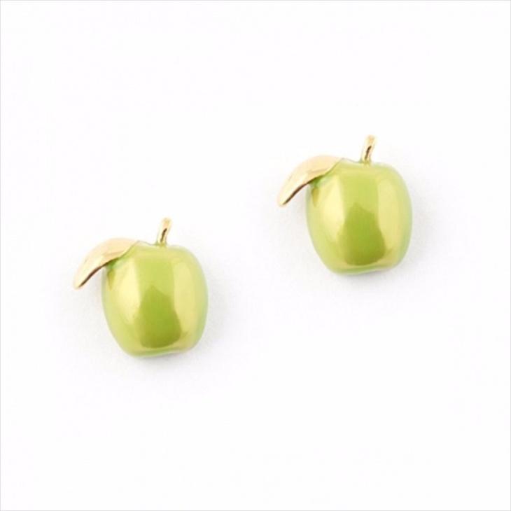 Apple Fruit Earrings