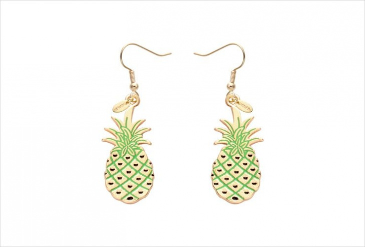 Pineapple Fruit Earrings Idea