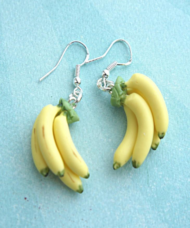 Pretty Banana Bunch Earrings