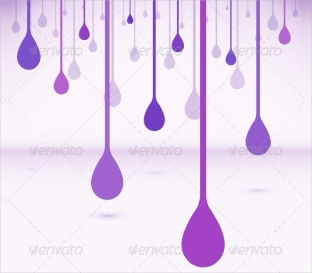 flat violet drops vector