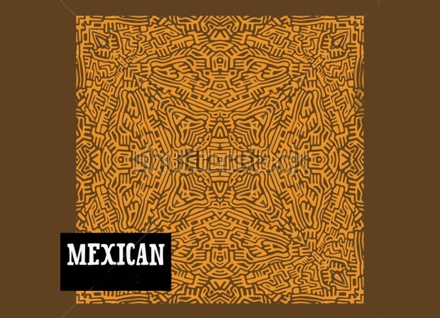 brown mexican pattern