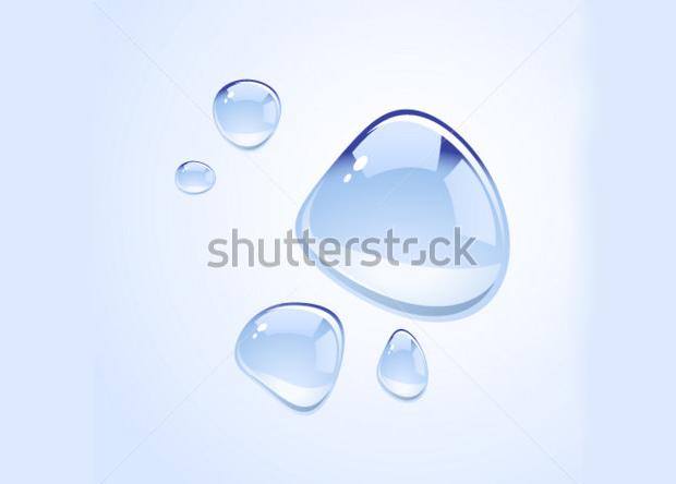 realistic water drop vectors