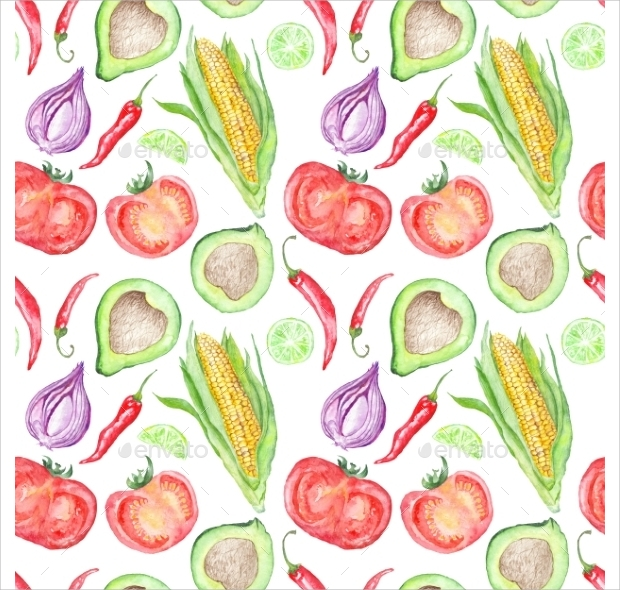 vegetable mexican cuisine pattern