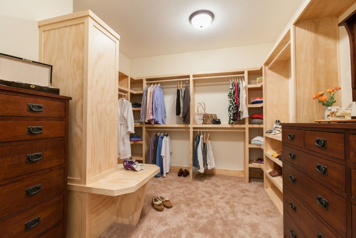 Small Corner Walk In Closet