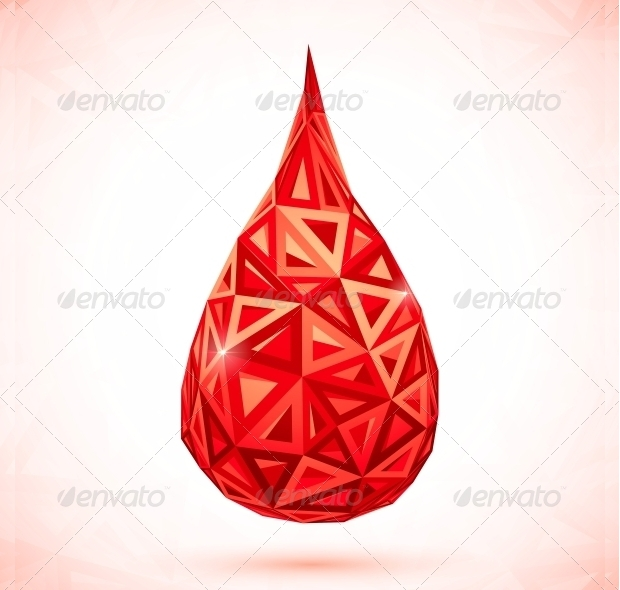 abstract triangle blood vector