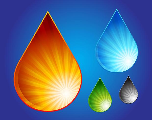 free water drop graphic vector