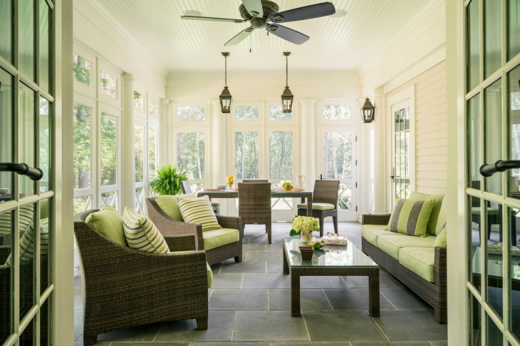 Traditional Sunroom Lighting