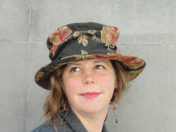 floral brim hat idea