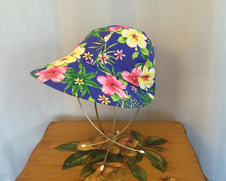 hawaiian floral hat