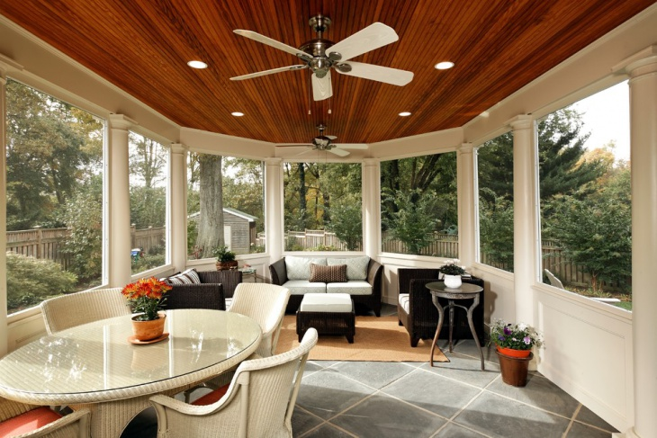 Sunroom Ceiling Light Design