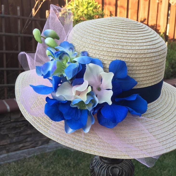 floral summer hat