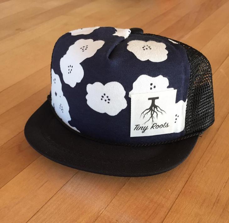 Floral Trucker Hat Model