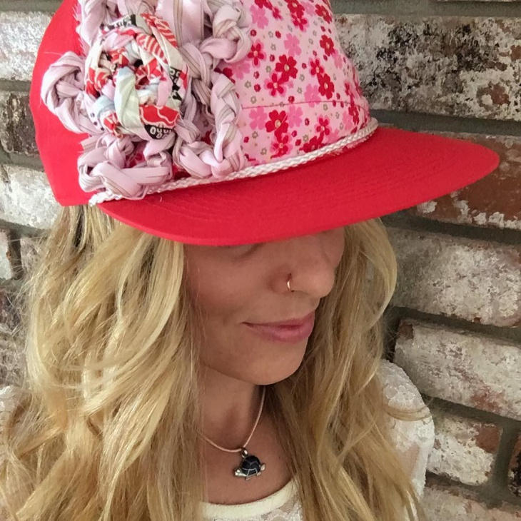 handmade floarl hat design