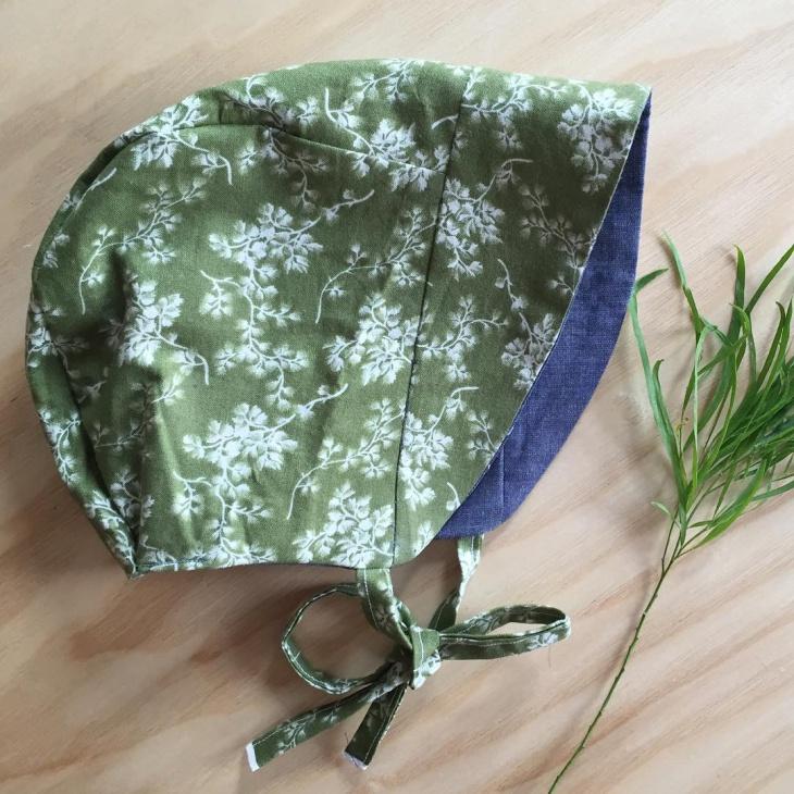 floral bonnet hat