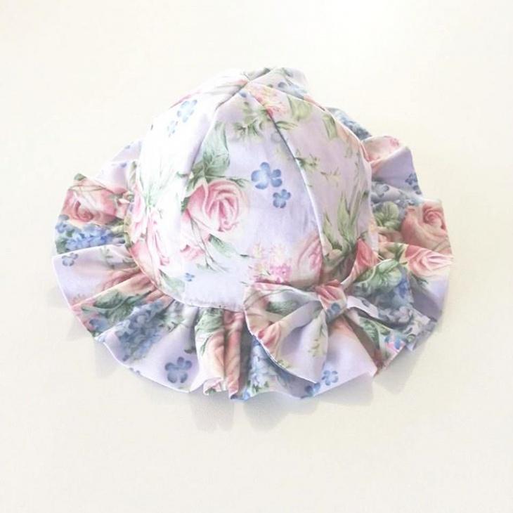 cute floral printed hat
