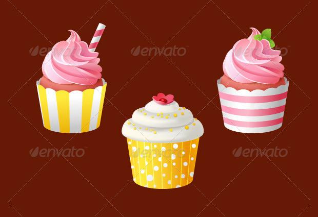 celebratory cupcake vector