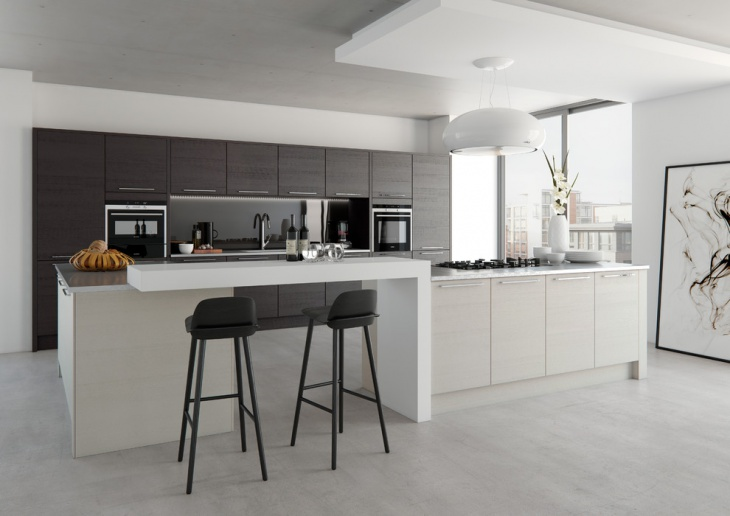 modern monochrome kitchen idea