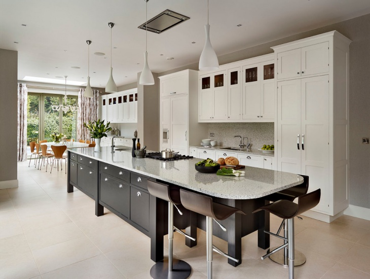 Monochrome Kitchen Island