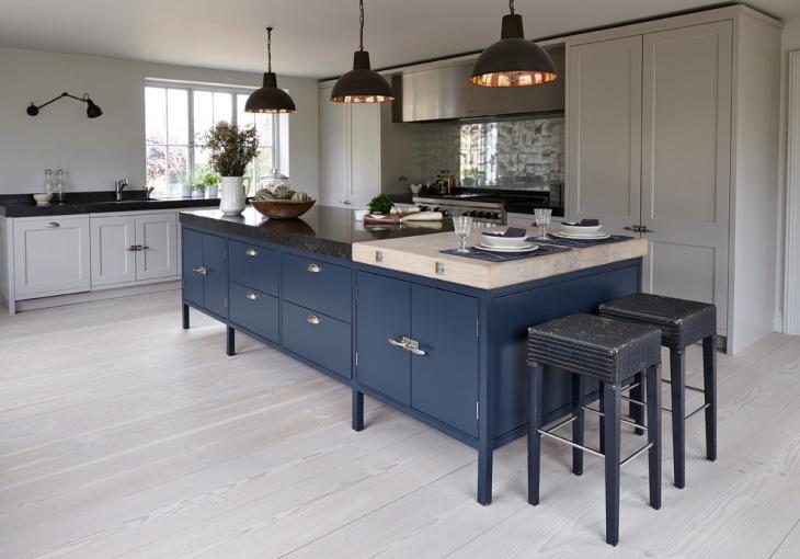transitional monochrome kitchen